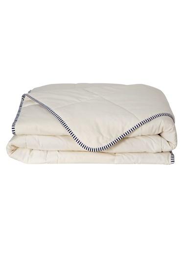 Hibboux Soft Flannel Çift Kişilik Pamuk Yorgan Beyaz